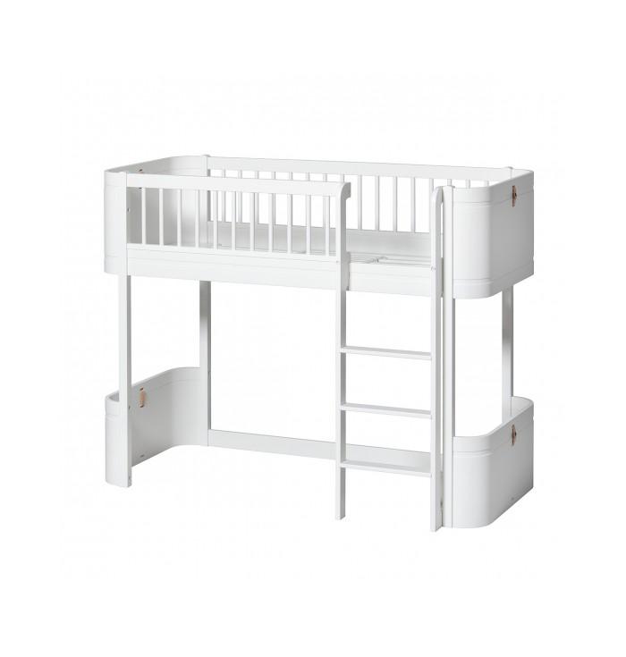 Wood Low Loft Bed - Mini + - Oliver Furniture