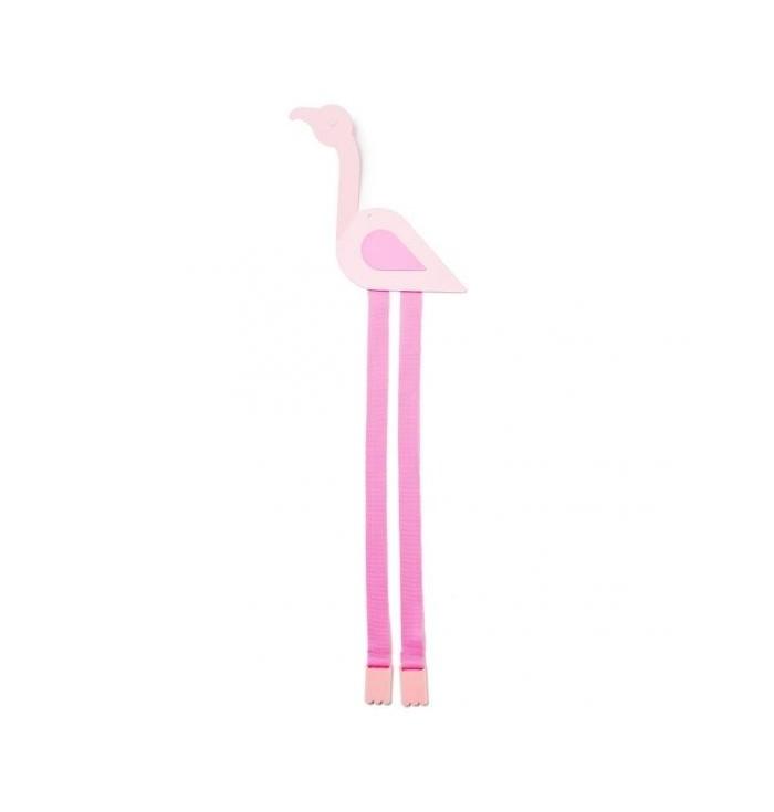 Elastic port flamingo hair