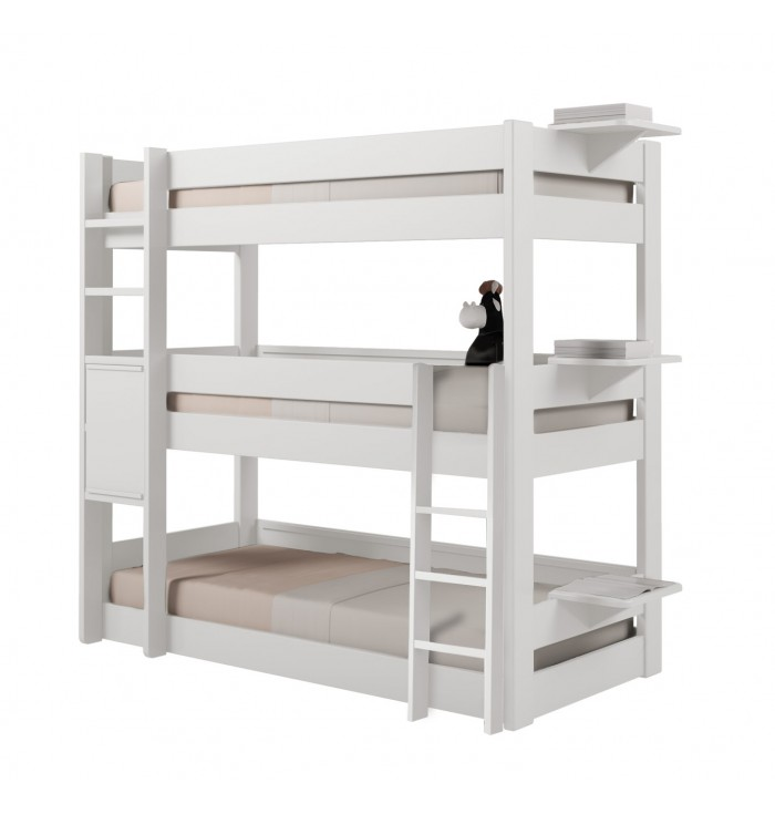 Bunk bed Dominique - 3 beds - Mathy by Bols