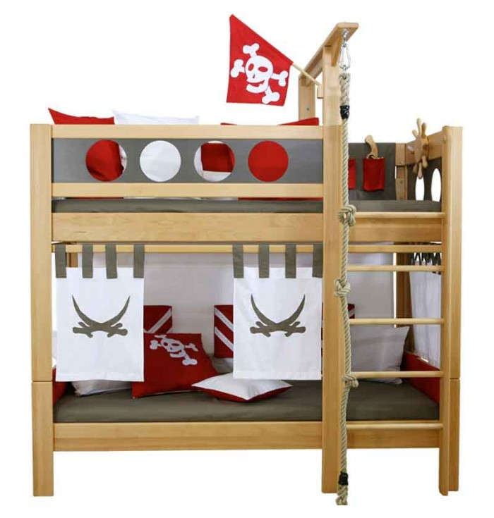 Bunk bed Pirate Natural Oiled - De Breuyn