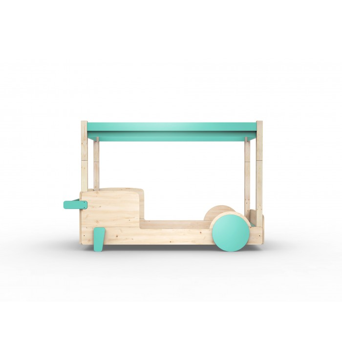 Single Bed With Canopy Montessori Discovery - Mathy by Bols
