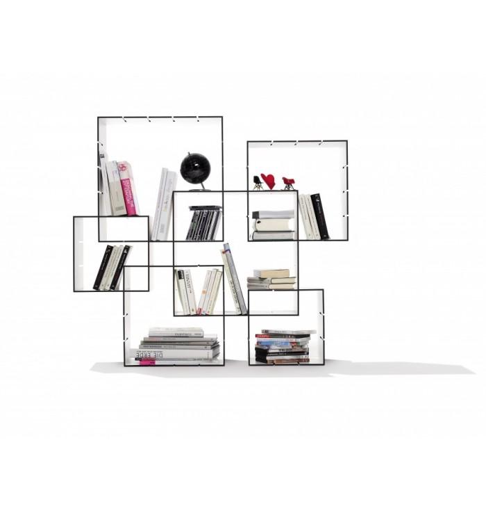 Libreria da parete componibile Konnex - set da 3 moduli - Muller Mobelwerkstatten