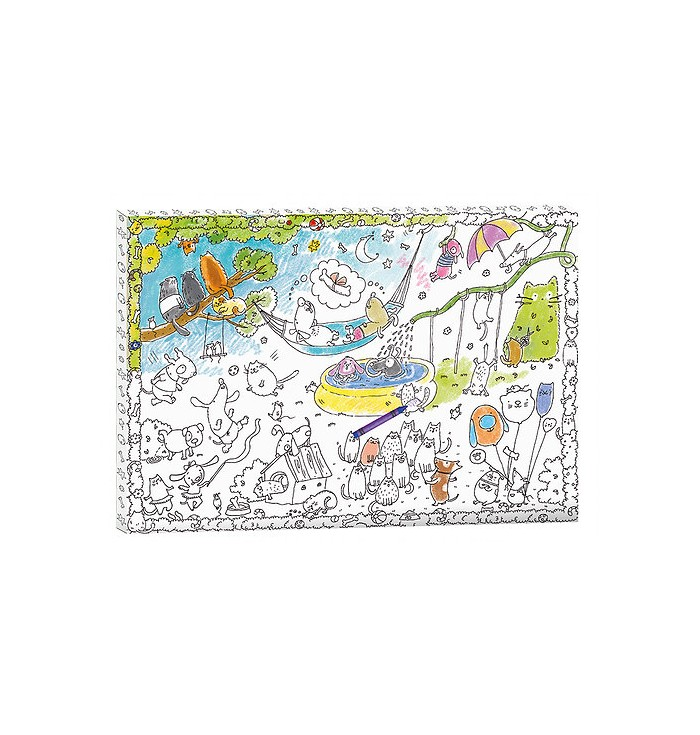 Coloring Picture 3D - Dogs And Cats