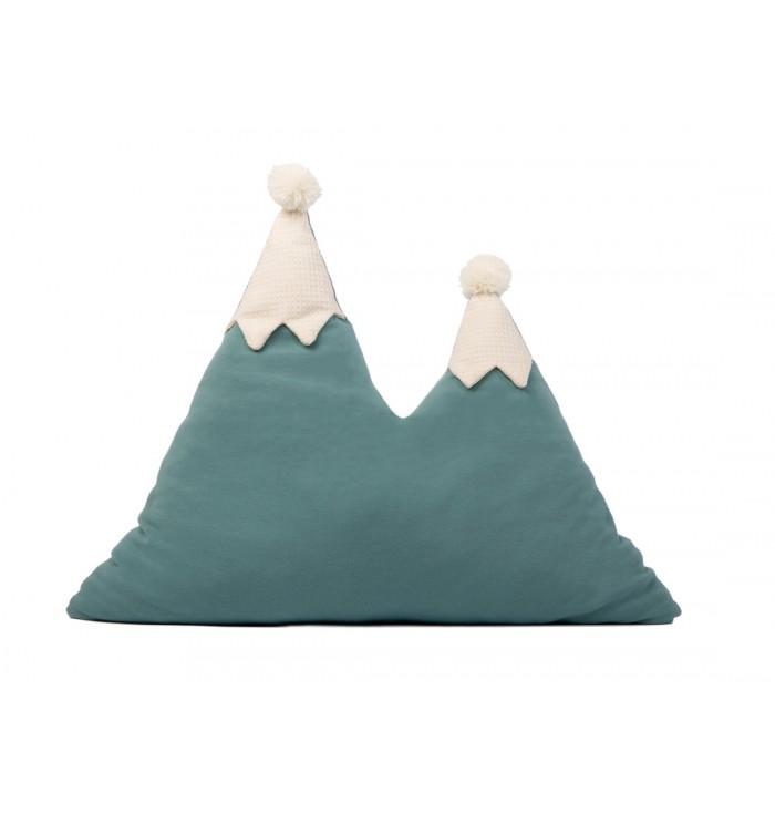 Cuscino Snowy Mountains - Magic Green