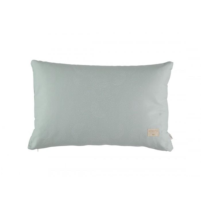 Cuscino Pythagoras - Verde/Bollicine Bianche