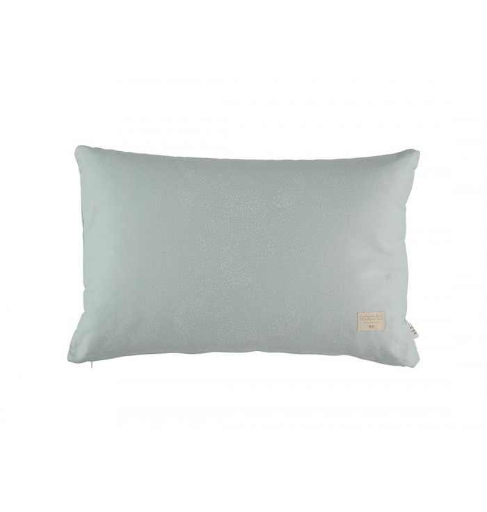 Pythagoras Cushion - Green / White Bubbles