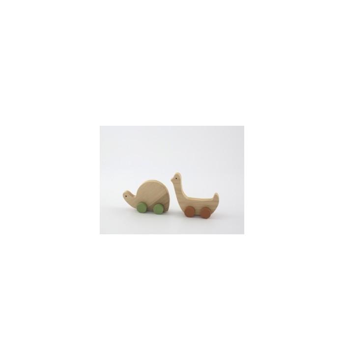 Mini trainabili in legno - Tartaruga e anatra