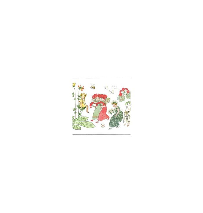 Bordo Carta Da Parati - Elsa Berskow - Blomsterparaden - Borastapeter