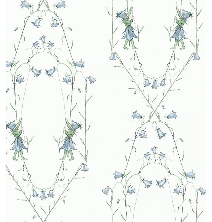 Wallpaper Border - Elsa Berskow - Blacklocka - Borastapeter