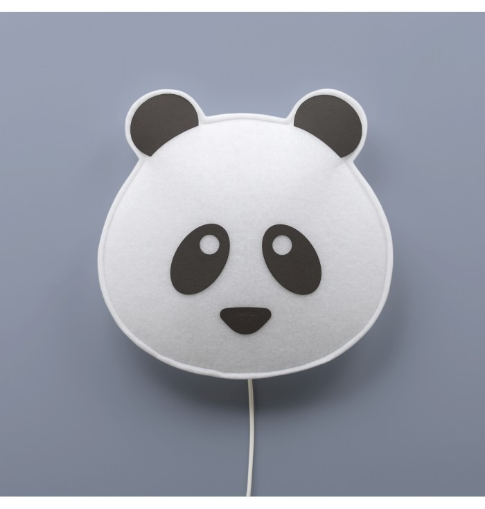 Soft Wall Lamp With Switch - Panda Black