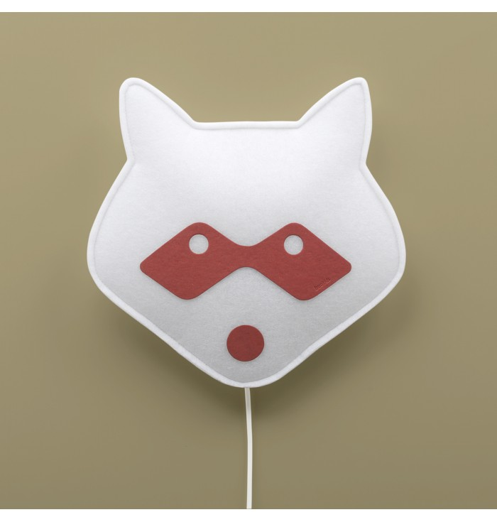Soft Wall Lamp With Switch - Red Raccoon