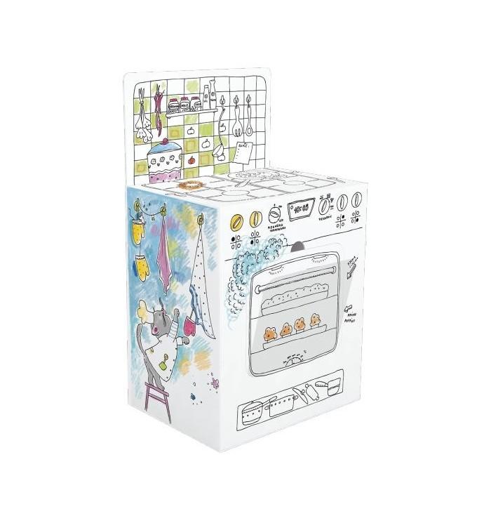 Cucina 3D in carta da colorare