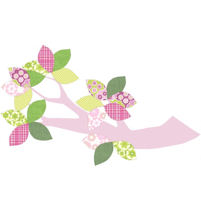 Shaped Wallpaper Inke - Branch And Leaves