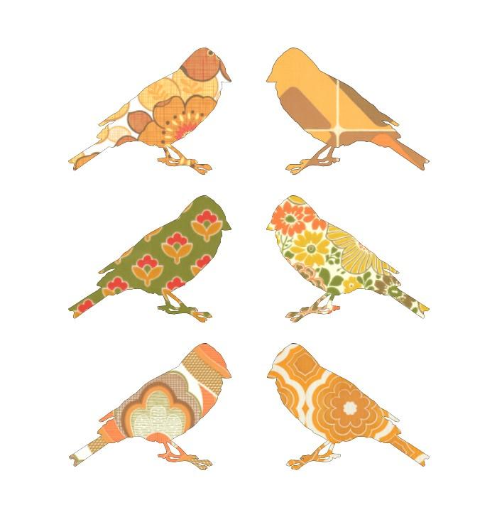 Shaped Wallpaper Inke - birds