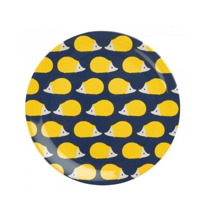 Melamine plate - Kissing Hedgehogs