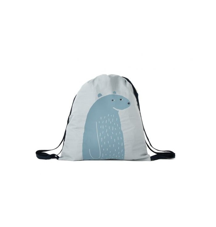Nobodinoz Backpack - Pink Fox, blue bear