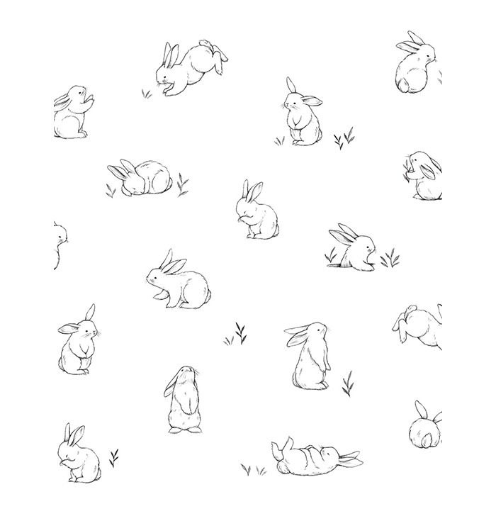 Carta Da Parati Bunnies Sketches