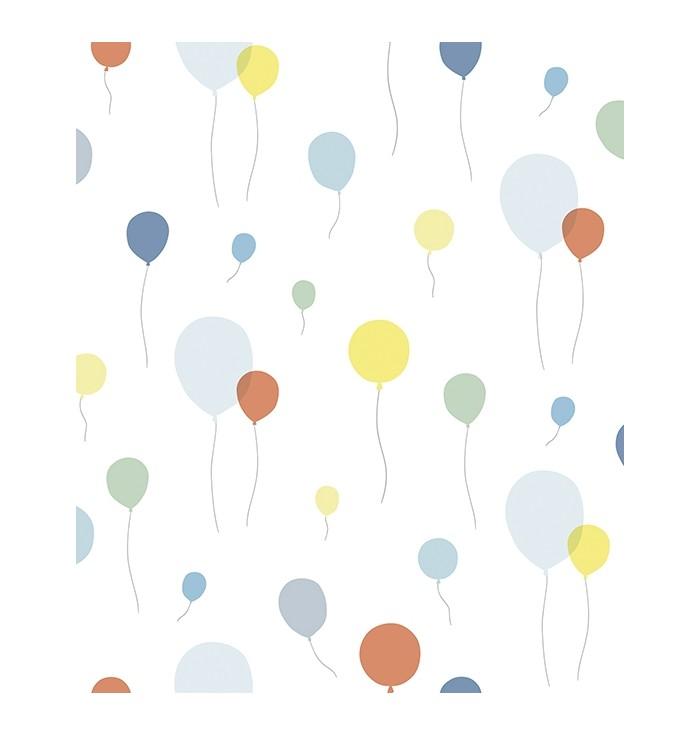 Wallpaper Flying Balloons - Multicolor