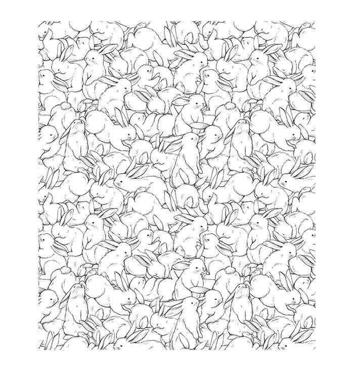 Wallpaper Hundred Bunnies