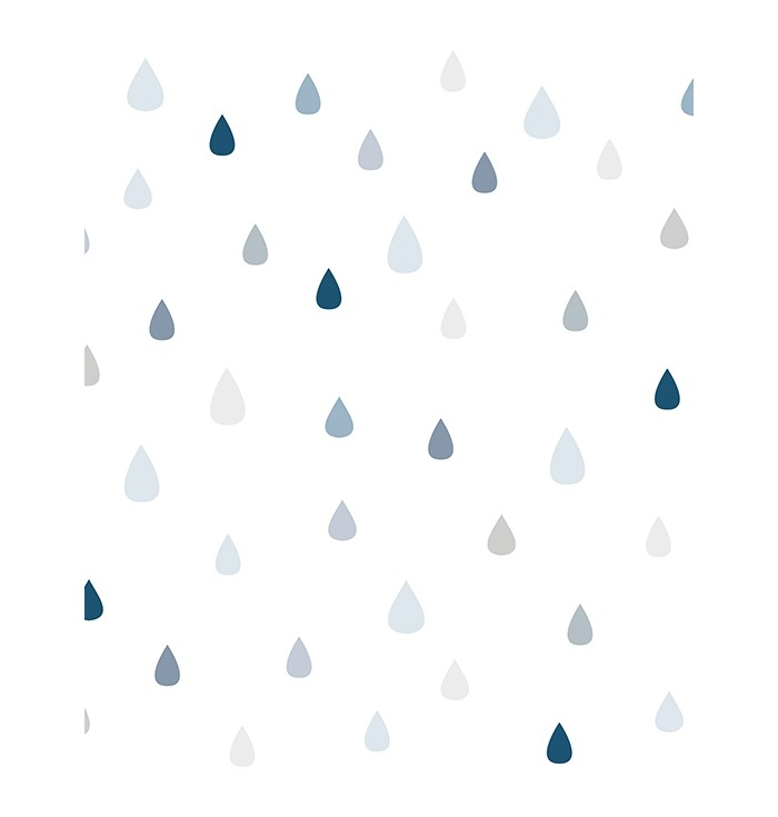 Carta Da Parati It's Raining Blue