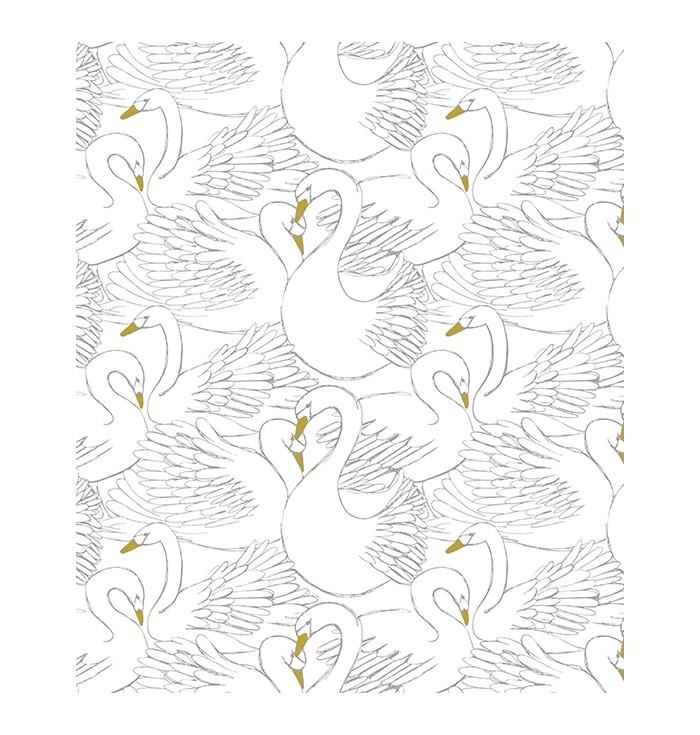 Carta Da Parati Majestic Swans
