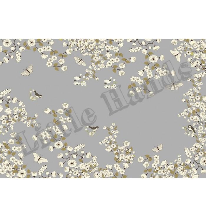 Carta Da Parati - Classic - White Flowers - Little Hands
