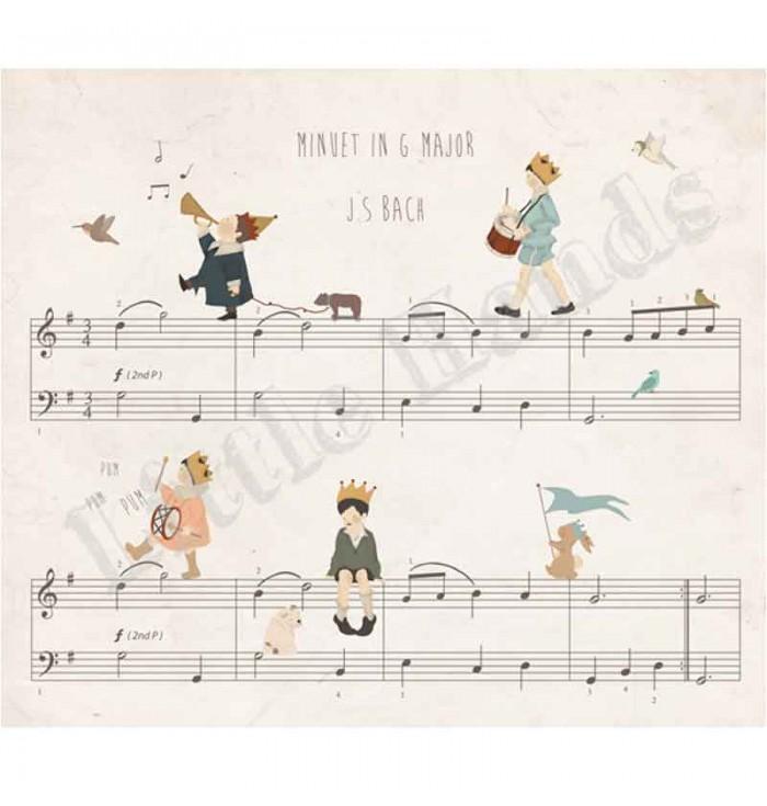 Carta Da Parati - J.S. Bach - Little Hands