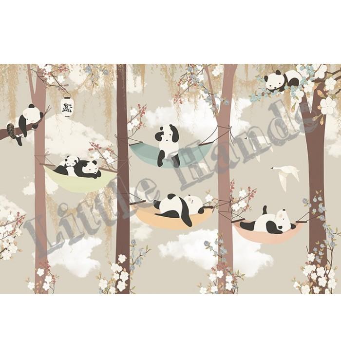 Carta Da Parati - Sleeping Panda - Little Hands