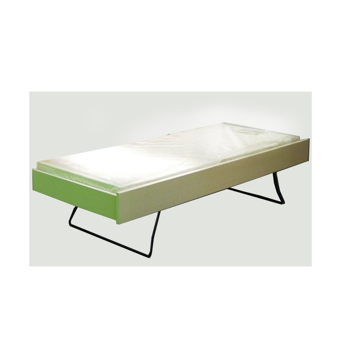 Bed With Folding Legs And Sponde Dominique - Mathy by Bols