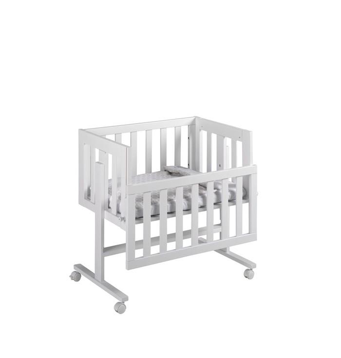 Co-sleeping Cradle Cododo With Textiles Pois Gray