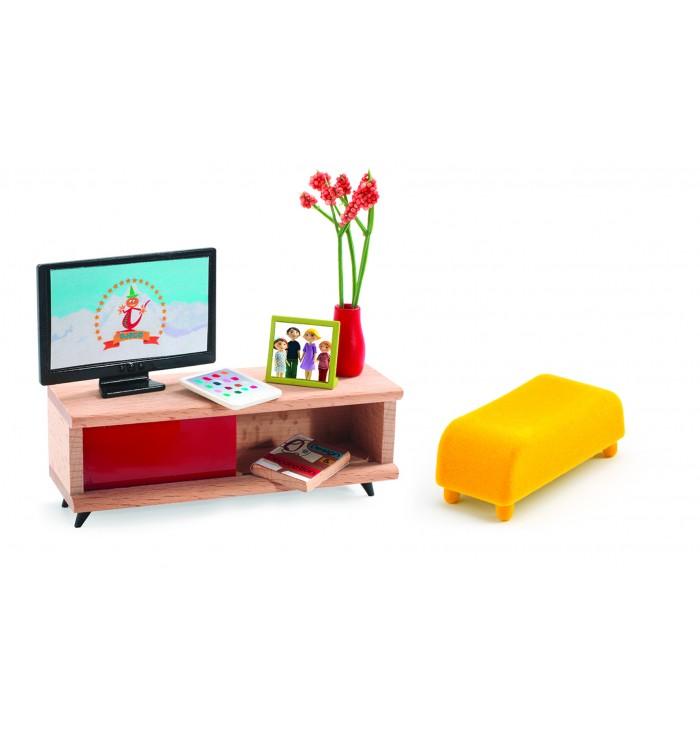 Mobili x casa delle bambole - Stanza TV