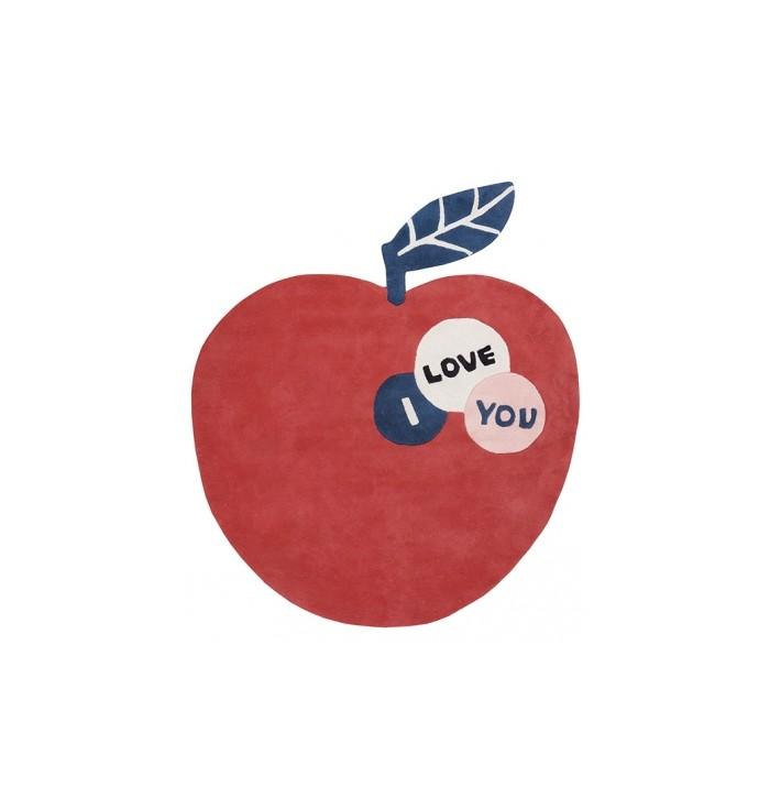 Tappeto a forma di mela