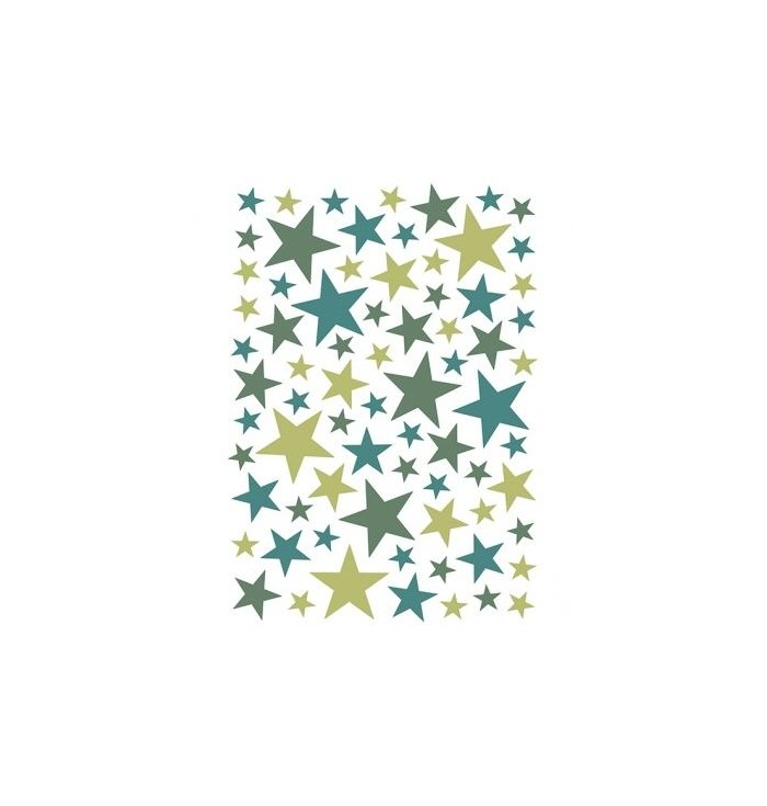 Stickers with colorful stars