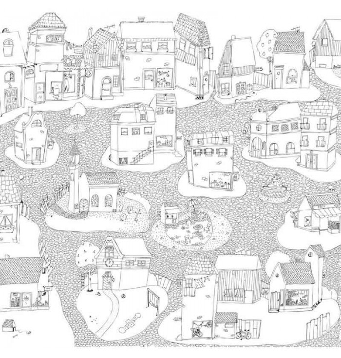 Wallpaper - The Cheerful Coloring Village