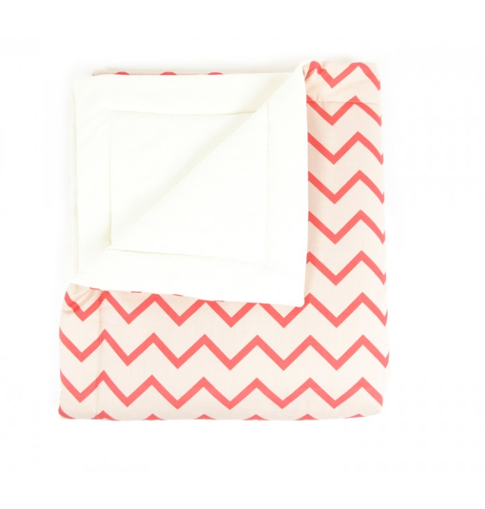 Blanket Single Bed - Zig Zag Pink