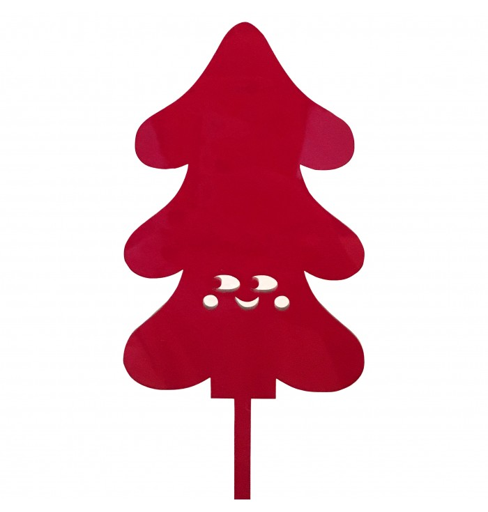 Cake (Xmas) Topper - Red Tree