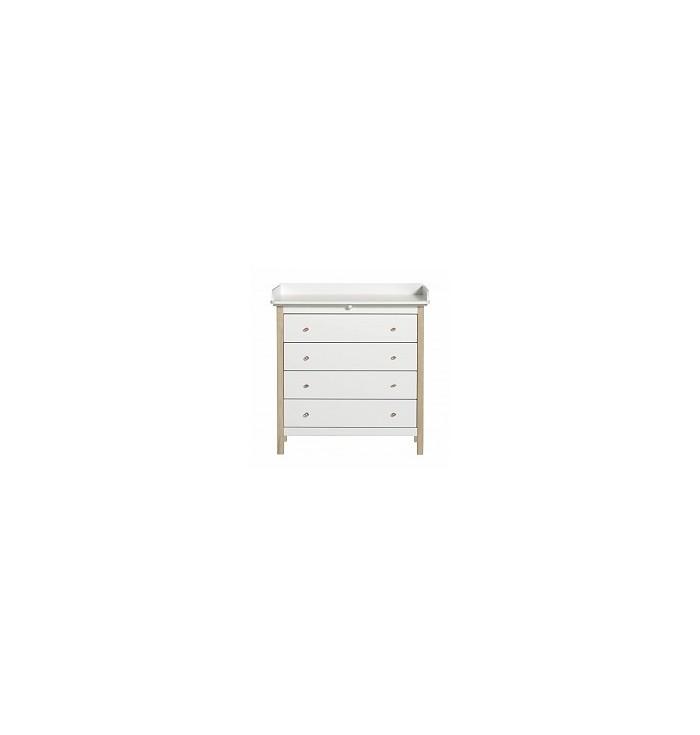 Wood Nursery dresser with 4 Drawers - Oliver Furniture