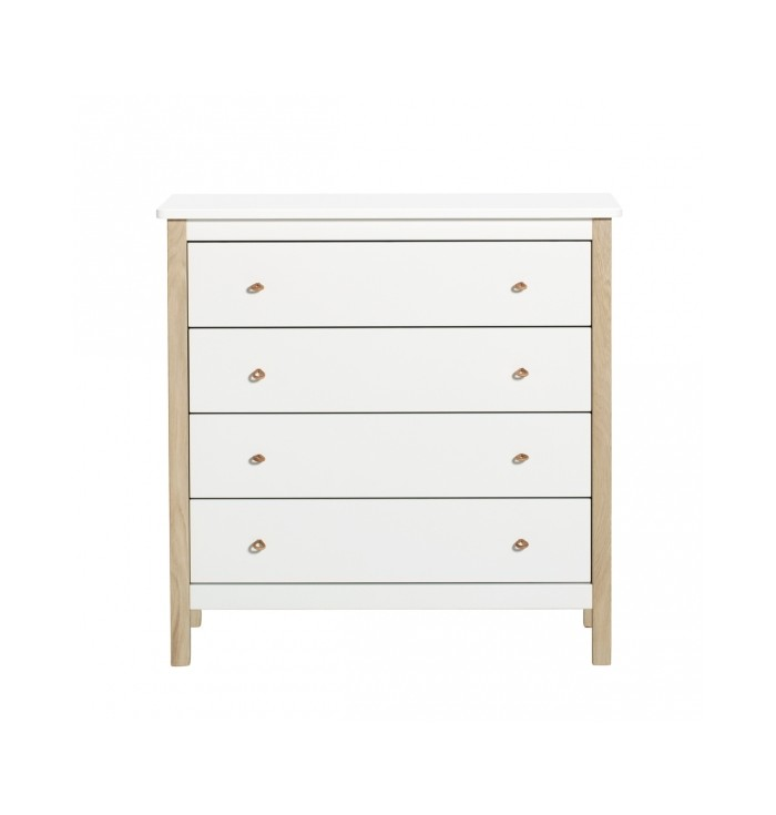 Chest Of Drawers 4 Wood - Oliver Furniture