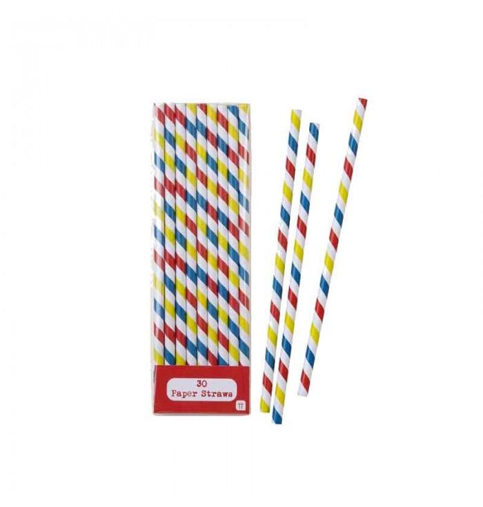 Drinking Straws Stripes - Talking Tables