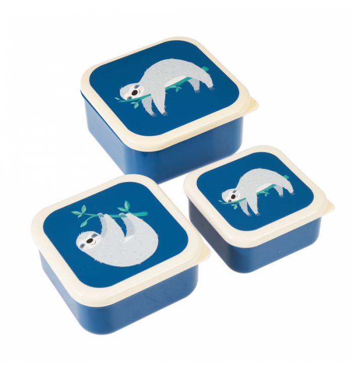 Set 3 Food Containers - Sidney Sloth