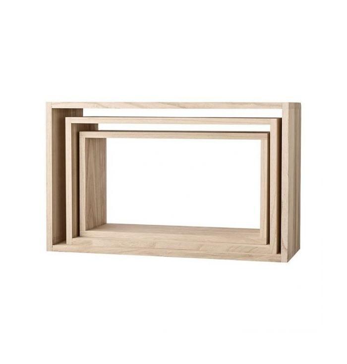 Set 3 Rectangular Shelves - Bloomingville