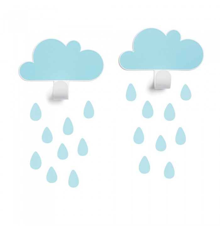 Set appendini nuvole + stickers - Tresxics