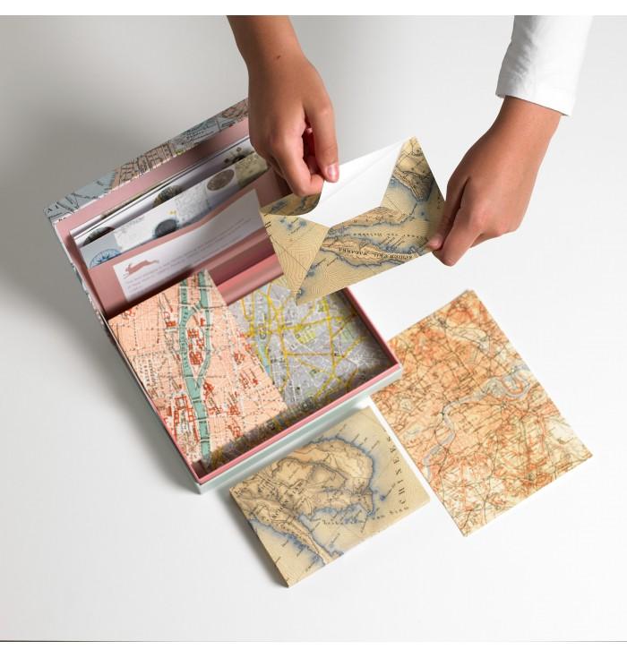 Set Di Carta Da Lettere - Maps