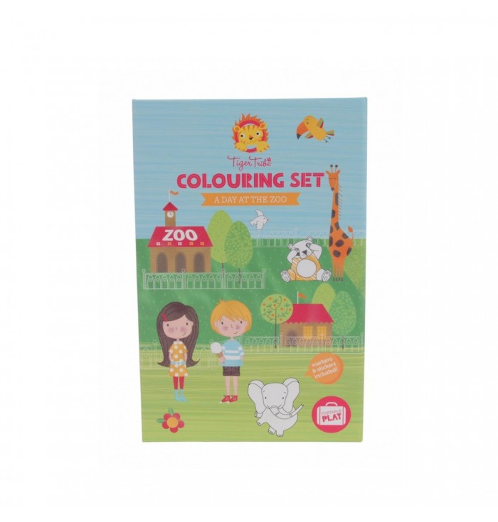 Game Coloring Kit - A Day At The Zoo