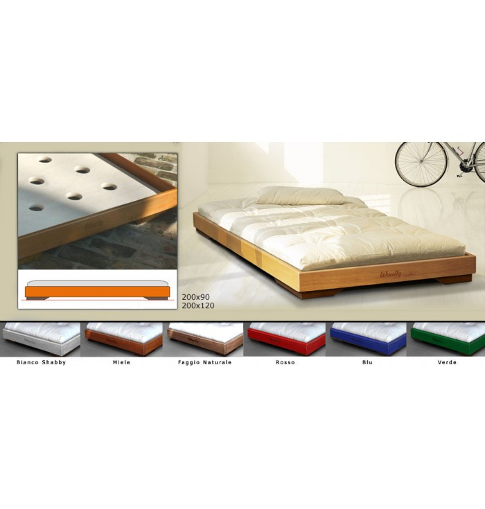 Cot Montessori Pure Maxi With Futon - Woodly