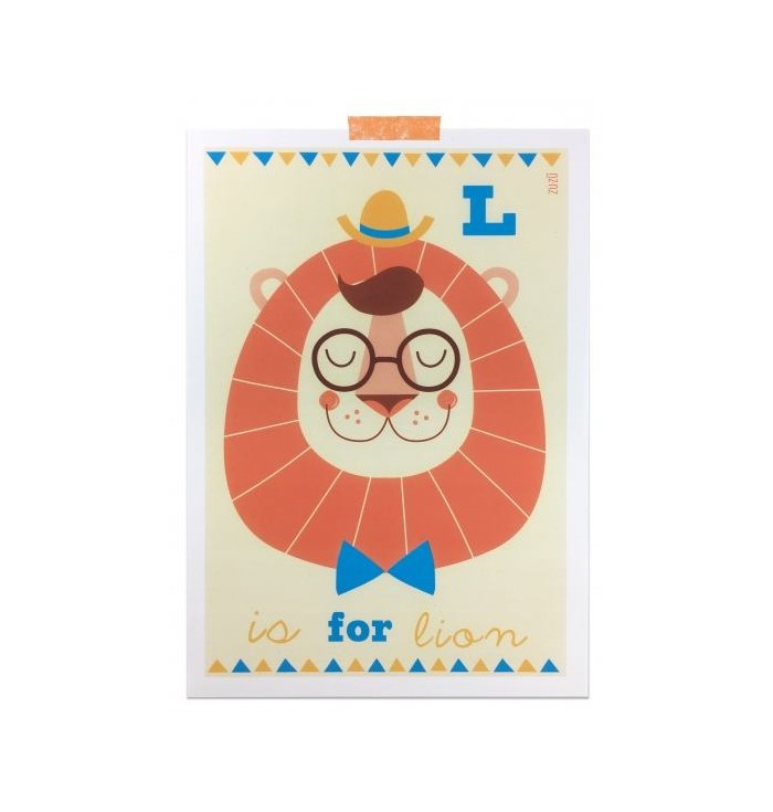 Poster postcards with letters - Zuzu