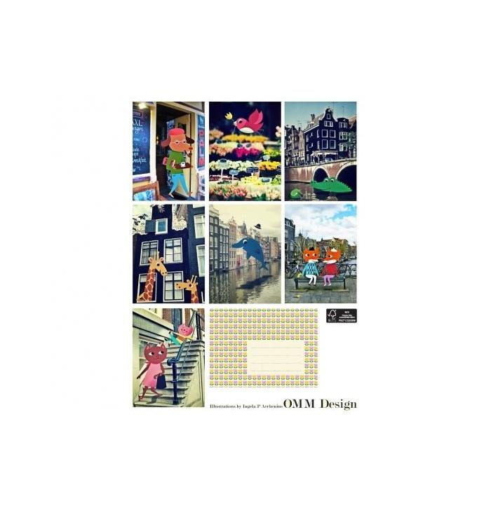 Poster cartoline città europee - Ingela Arrhenius - Omm design