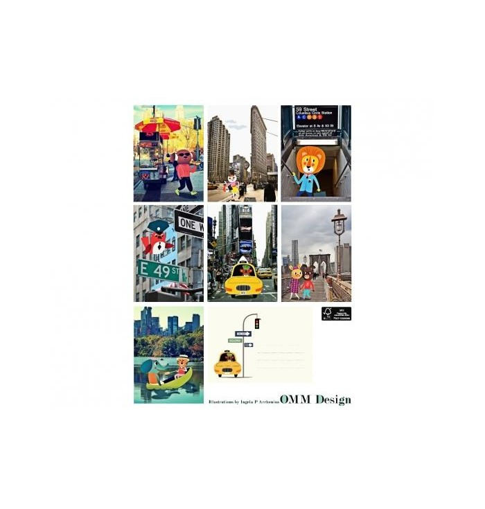 Poster cartoline città europee