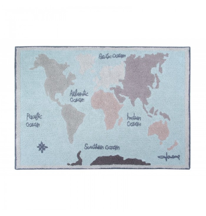 Tappeto Vintage Map Lorena Canals