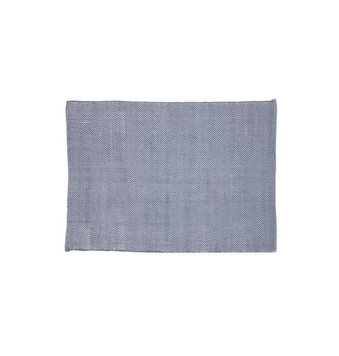 Carpet - Navy Herringbone